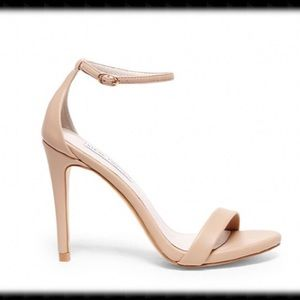 STEVE MADDEN Stecy Natural Strap Heels